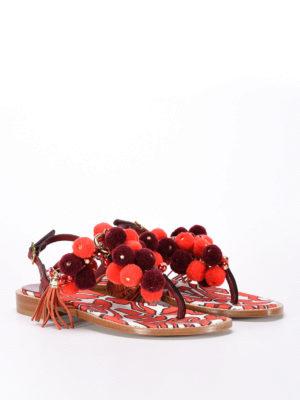 Sofia M.: sandals online - Erica pompom sandals