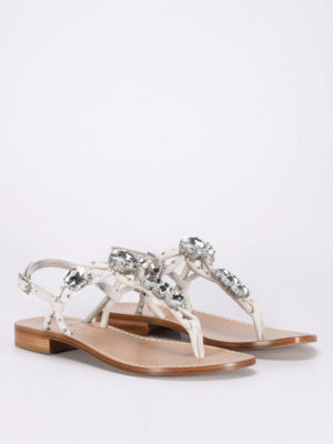 Sofia M.: sandals online - Maxi rhinestones thong sandals