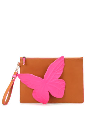 Sophia Webster: clutches - Flossy Butterfly flat clutch