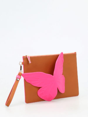 Sophia Webster: clutches online - Flossy Butterfly flat clutch