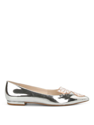 Sophia Webster: flat shoes - Bibi Butterfly patent leather flats