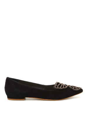 Sophia Webster: flat shoes - Bibi Stud Butterfly suede flats