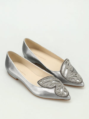 Sophia Webster: flat shoes online - Bibi Butterfly Crystal flats
