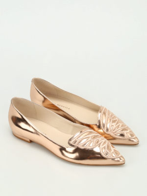 Sophia Webster: flat shoes online - Bibi Butterfly patent leather flats