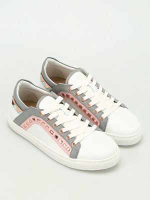 Sophia Webster: trainers online - Riko embellished leather sneakers
