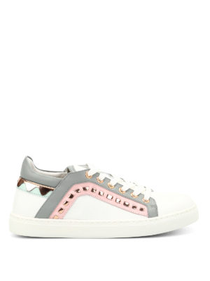 Sophia Webster: trainers - Riko embellished leather sneakers