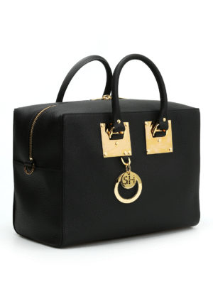 Sophie Hulme: bowling bags online - Cromwell leather bowling bag