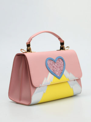 Sophie Hulme: bowling bags online - Parker medium glittered heart bag