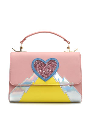 Sophie Hulme: bowling bags - Parker medium glittered heart bag