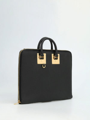 Sophie Hulme: laptop bags & briefcases online - Albion leather document holder