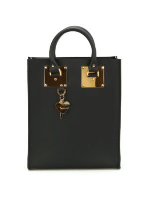 Sophie Hulme: totes bags - Mini Albion opaque leather tote