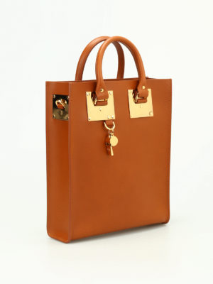 Sophie Hulme: totes bags online - Mini Albion leather tote