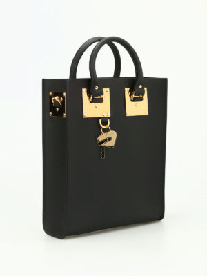 Sophie Hulme: totes bags online - Mini Albion opaque leather tote