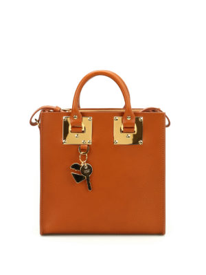 Sophie Hulme: totes bags - Square Albion leather bag