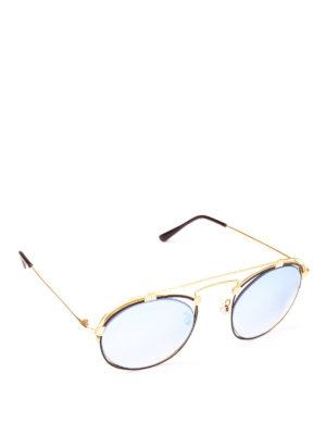 SPEKTRE: occhiali da sole - Occhiali da sole Coral in acciaio dorato