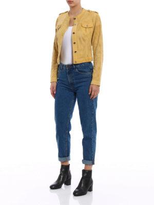Stazione Centrale: leather jacket online - Yellow suede denim style jacket