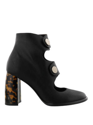 Stella Mccartney: ankle boots - Animal print heeled booties