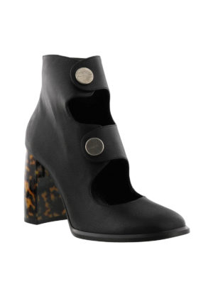 Stella Mccartney: ankle boots online - Animal print heeled booties