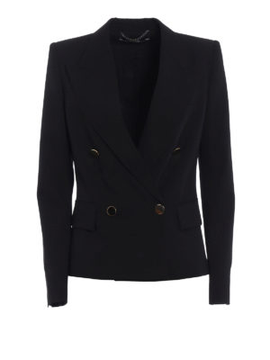 Stella Mccartney: blazers - Emery double breasted crepe blazer