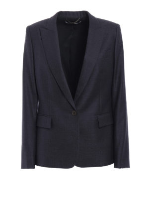 Stella Mccartney: blazers - Grey wool single-breasted blazer