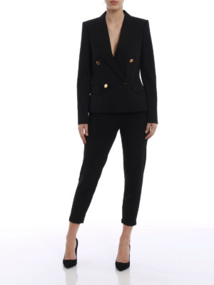 Stella Mccartney: blazers online - Emery double breasted crepe blazer