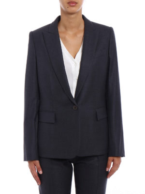 Stella Mccartney: blazers online - Grey wool single-breasted blazer