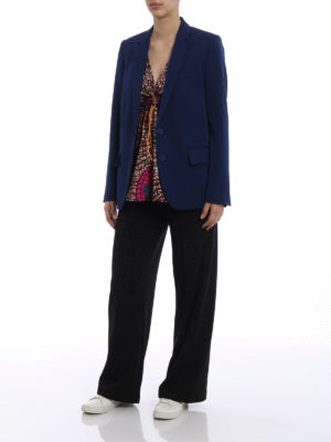 Stella Mccartney: blazers online - Side vents pure wool blazer