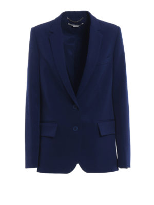 Stella Mccartney: blazers - Side vents pure wool blazer