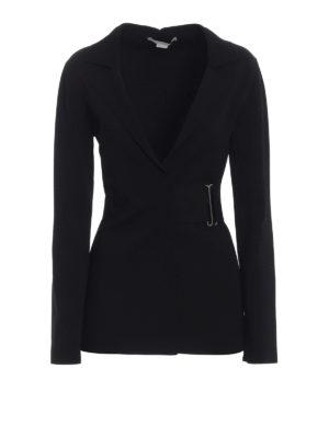 STELLA McCARTNEY: giacche blazer - Giacca in filato di viscosa con cinturino
