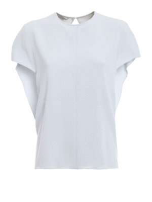Stella Mccartney: blouses - Butterfly sleeve crepe blouse
