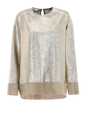 Stella Mccartney: blouses - Kira gold georgette lurex blouse