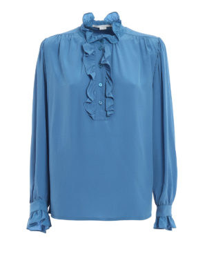 Stella Mccartney: blouses - Meredith ruched silk blouse