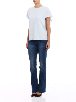 Stella Mccartney: blouses online - Butterfly sleeve crepe blouse