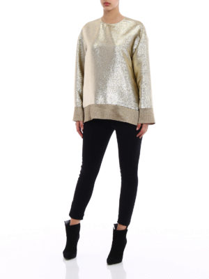 Stella Mccartney: blouses online - Kira gold georgette lurex blouse
