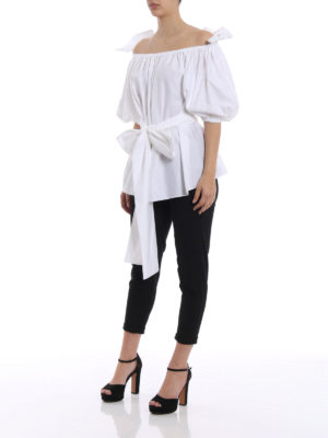 Stella Mccartney: blouses online - Michelle white cotton blouse