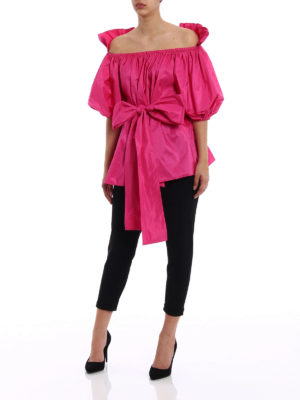 Stella Mccartney: blouses online - Michelle wide taffeta blouse