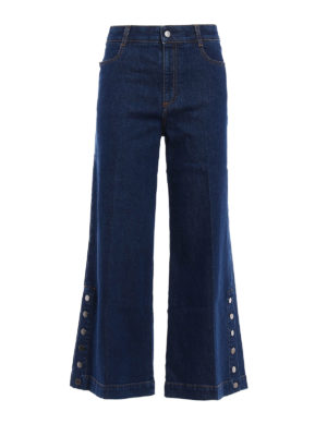 Stella Mccartney: bootcut jeans - Flared denim culottes