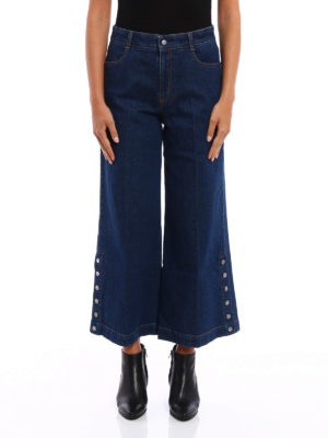 Stella Mccartney: bootcut jeans online - Flared denim culottes