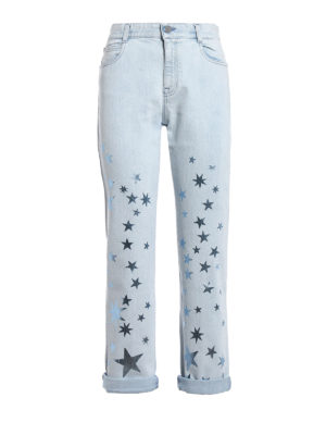 Stella Mccartney: Boyfriend - Glowing star print boyfriend jeans