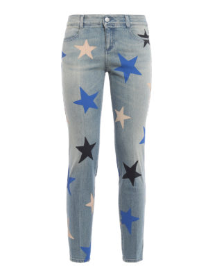 Stella Mccartney: Boyfriend - Multicolour star print jeans
