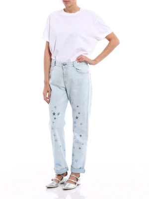 Stella Mccartney: Boyfriend online - Glowing star print boyfriend jeans