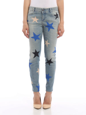 Stella Mccartney: Boyfriend online - Multicolour star print jeans