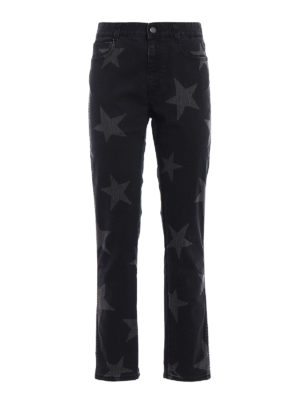 Stella Mccartney: Boyfriend - Stars print boyfriend jeans