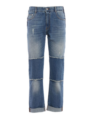 Stella Mccartney: Boyfriend - Worn out frayed boyfriend jeans