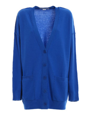 Stella Mccartney: cardigans - Exposed stitchings wool cardigan