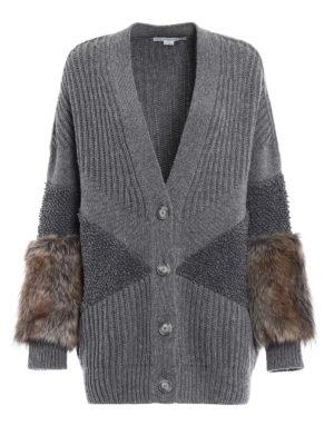 Stella Mccartney: cardigans - Fur Free Fur wool oversize cardigan
