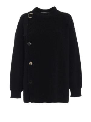 STELLA McCARTNEY: cardigan - Cardigan in pesante lana con maxi bottoni