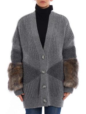 Stella Mccartney: cardigans online - Fur Free Fur wool oversize cardigan