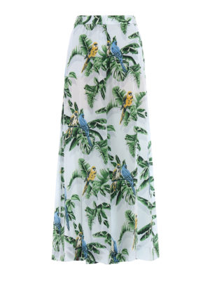 Stella Mccartney: casual trousers - Birds of Paradise palazzo pants