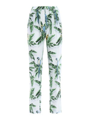 Stella Mccartney: casual trousers - Christine tropical silk trousers